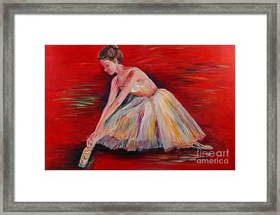 The Dancer Framed Print by Nadine Rippelmeyer