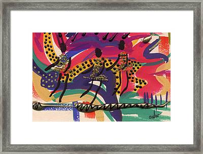 Framed Print featuring the mixed media The Dancers by Angela L Walker