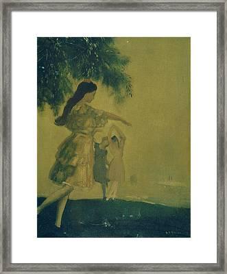 The Dancers Framed Print by Arthur Bowen Davies