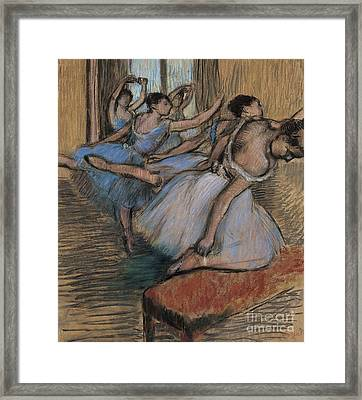 The Dancers Circa 1900 Framed Print by Edgar Degas