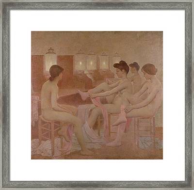 The Dancers Framed Print by Fernand Pelez