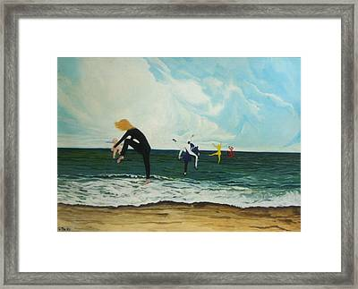 The Dancers Framed Print by Georgette Backs