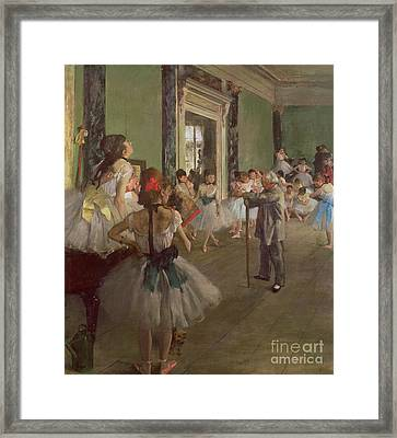 The Dancing Class Framed Print by Edgar Degas