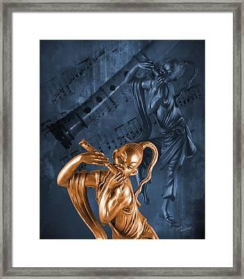 The Dancing Flutist Framed Print