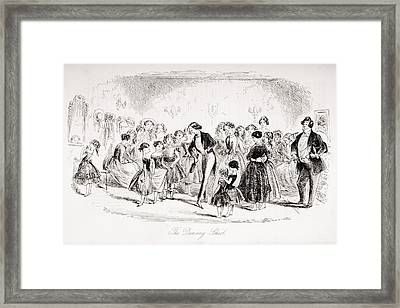 The Dancing School. Illustration By Framed Print by Vintage Design Pics