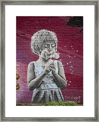 The Dandelion Framed Print by Chris Dutton