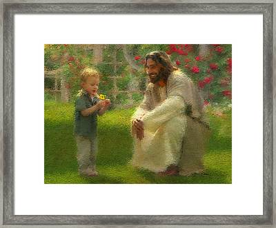 The Dandelion Framed Print by Greg Olsen
