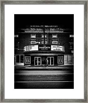 Framed Print featuring the photograph The Danforth Music Hall Toronto Canada No 1 by Brian Carson
