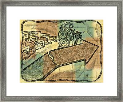 The Danger Of Stock Market Framed Print