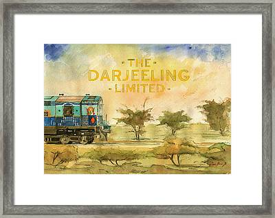 The Darjeeling Limited Poster Film Wes Anderson Framed Print by Juan  Bosco