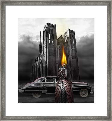The Dark Angel Framed Print by Larry Butterworth