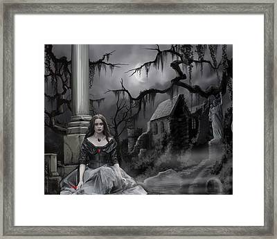 Framed Print featuring the painting The Dark Caster Awaits by James Christopher Hill