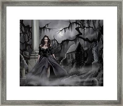 Framed Print featuring the painting The Dark Caster Comes by James Christopher Hill