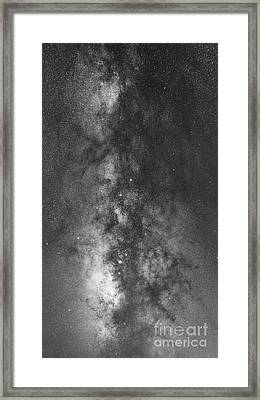 The Dark Heart Panorama Bw Framed Print by Michael Ver Sprill