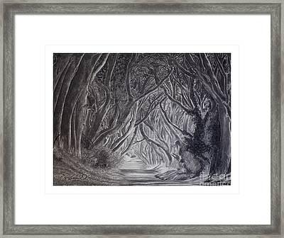 The Dark Hedges Framed Print by Gary Rudisill