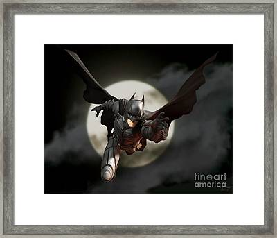 The Dark Knight Framed Print by Paul Tagliamonte