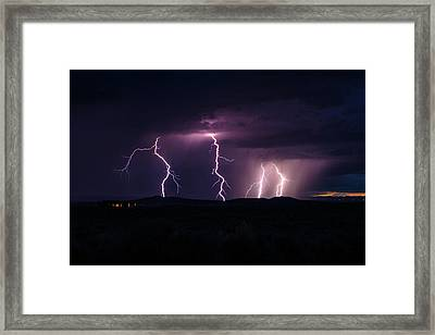 The Dark Side Of Taos Framed Print