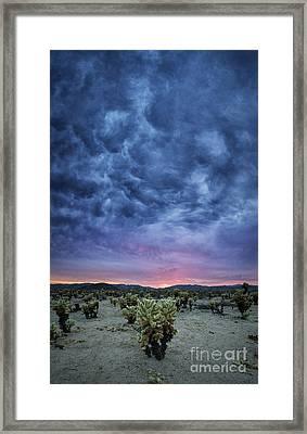 The Dark Sunset 2 Framed Print by Michael Ver Sprill