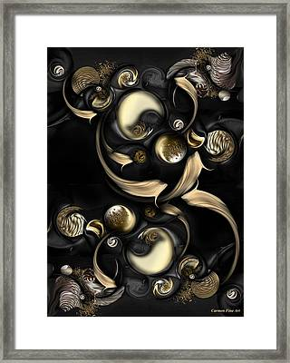 The Darkened Meditation Framed Print