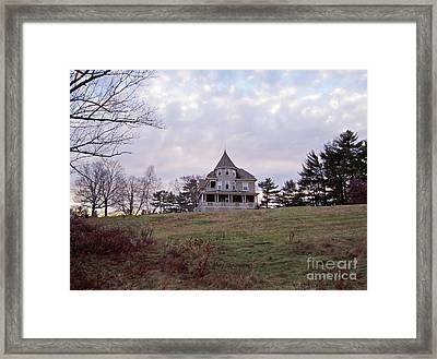The Darkest Hour Hints Of Color Framed Print by Mary Ann Weger