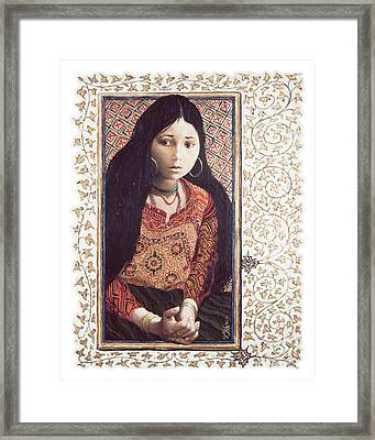 The Daughter Of Jairus - Lgdoj Framed Print by Louis Glanzman