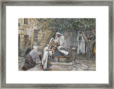 The Daughter Of Jairus Framed Print by Tissot