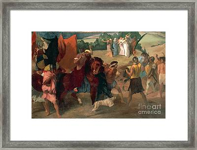 The Daughter Of Jephthah Framed Print by Edgar Degas