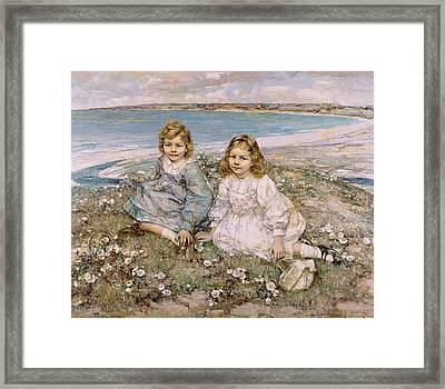 The Daughters Of Bertram Roberts Framed Print