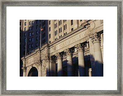 The David N Dinkins Municipal Building Framed Print by American School