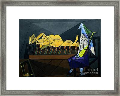 The Dawn, L'aubade, By Pablo Picasso, 1942, Centre Pompidou, Par Framed Print by Peter Barritt