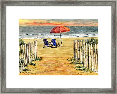 The Day Awaits  Framed Print by Melly Terpening