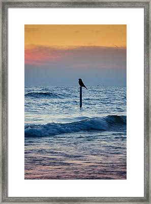 The Day Ends Framed Print by Art Spectrum