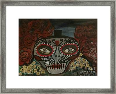 The Day Of The Dead Framed Print by Amber Waltmann