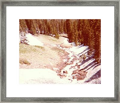 The Day Roaring River Roared At Rocky Mountain National Park With Snow Framed Print by Ruth Housley