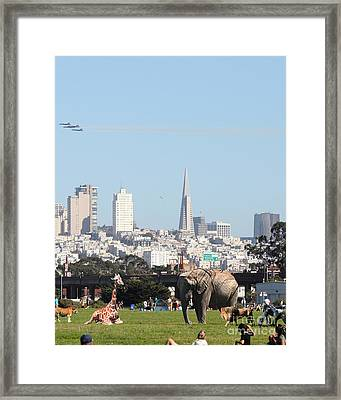The Day The Circus Came To Town - Portrait Framed Print by Wingsdomain Art and Photography