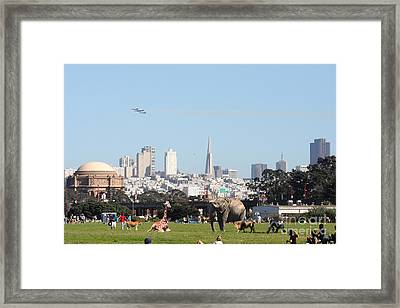 The Day The Circus Came To Town Framed Print
