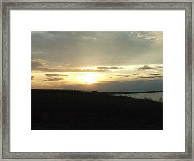 The Days End Framed Print by Dennis Wilkins