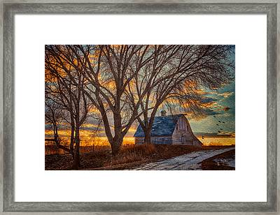 The Day's Last Kiss Framed Print by Nikolyn McDonald