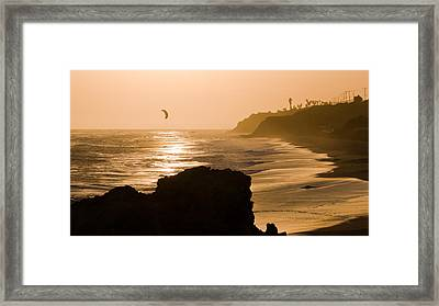 The Day's Last Ride Framed Print