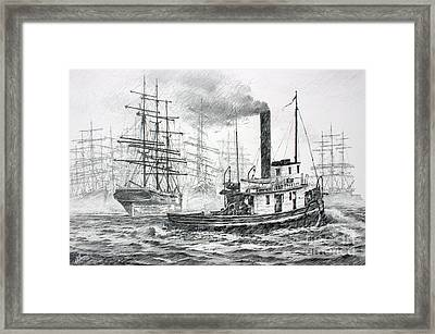 The Days Of Steam And Sail Framed Print