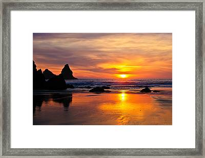 The Days Reflections Framed Print by Jake Johnson