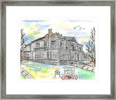 The Dayton House Framed Print by Matt Gaudian