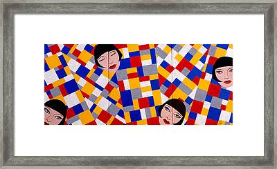 The De Stijl Dolls Framed Print by Tara Hutton