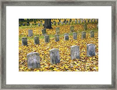 The Dead At Antietam Framed Print