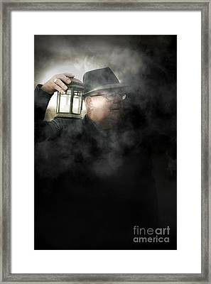 The Dead Of Night Framed Print