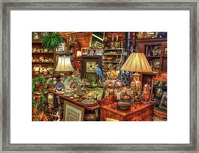 The Dealer Greensboro Antique Mall Art Framed Print