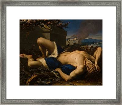 The Death Of Abel Framed Print by Antonio Balestra