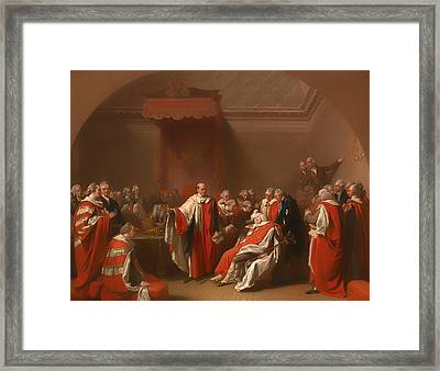 The Death Of Chatham - William Pitt 1st Earl Of Chatham Framed Print