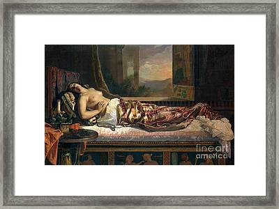 The Death Of Cleopatra Framed Print by German von Bohn