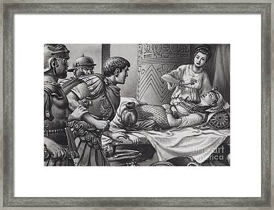 The Death Of Cleopatra Framed Print